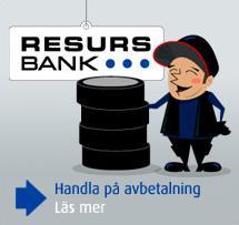 Klicka för att läsa mer om avbetalning via Resurs.